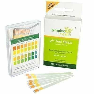 Simplex pH test strips